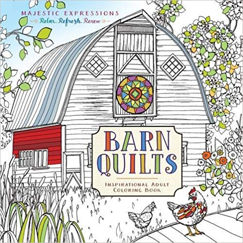 Barns Quilts adult coloring book by Marian Parsons (Miss Mustard Seed)