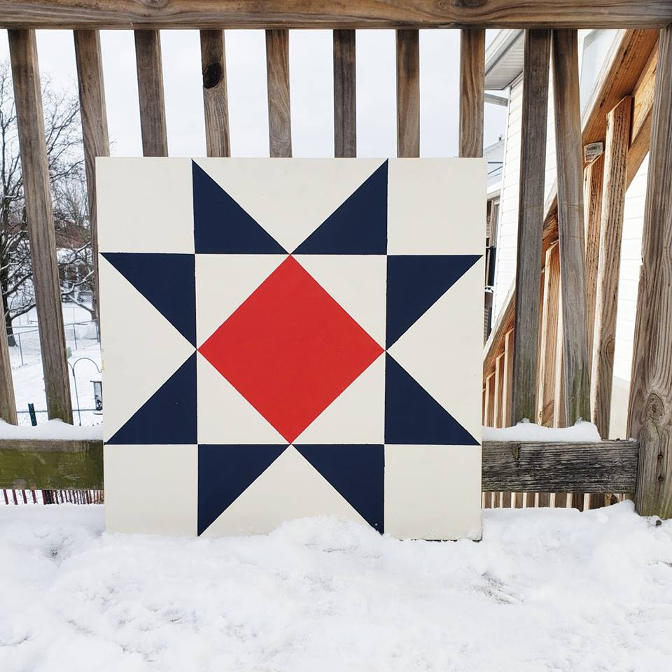 Painted Barn Quilt Art by Helen Nichole Designs