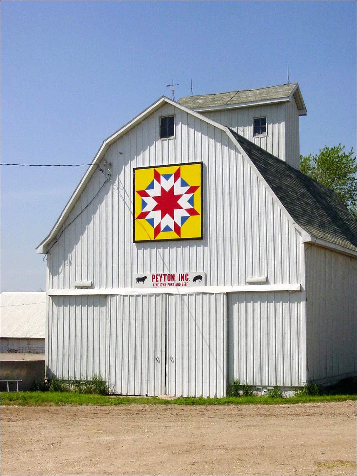 Barn quilt in Iowa - via barnquilts.com