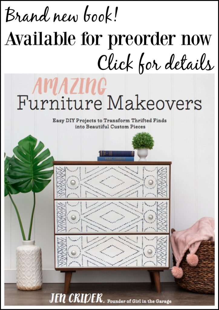 Amazing Furniture Makeovers book by Girl in the Garage, available for preorder now