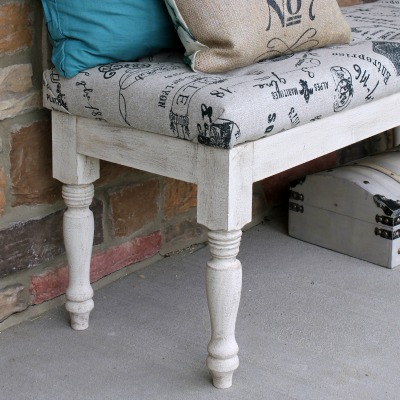 Tufted Upholstered Bench Makeover