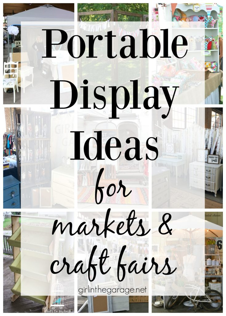 Portable display ideas for markets and craft fairs - Girl in the Garage