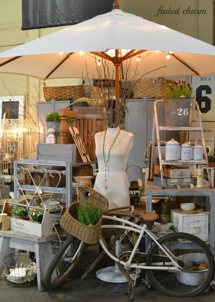 Vintage market booth by Faded Charm