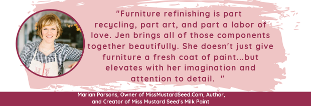 Miss Mustard Seed review for Amazing Furniture Makeovers