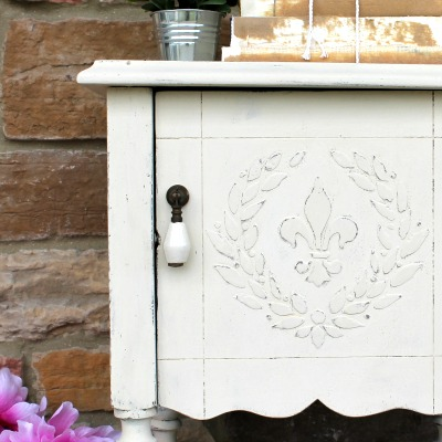 How to Add a Raised Stencil to Furniture