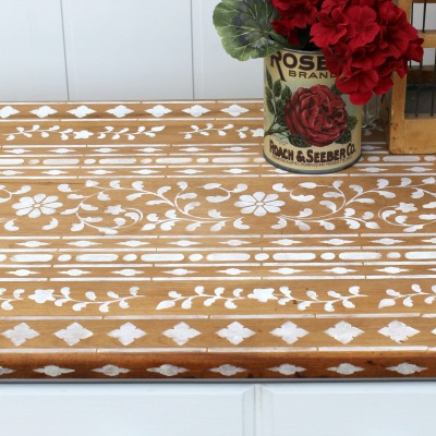 How to Stencil Bone Inlay Furniture