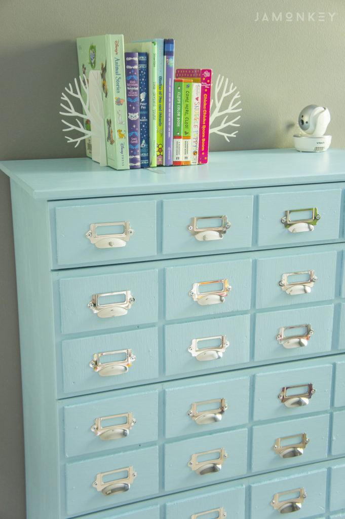 DIY Card Catalog IKEA Dresser Hack