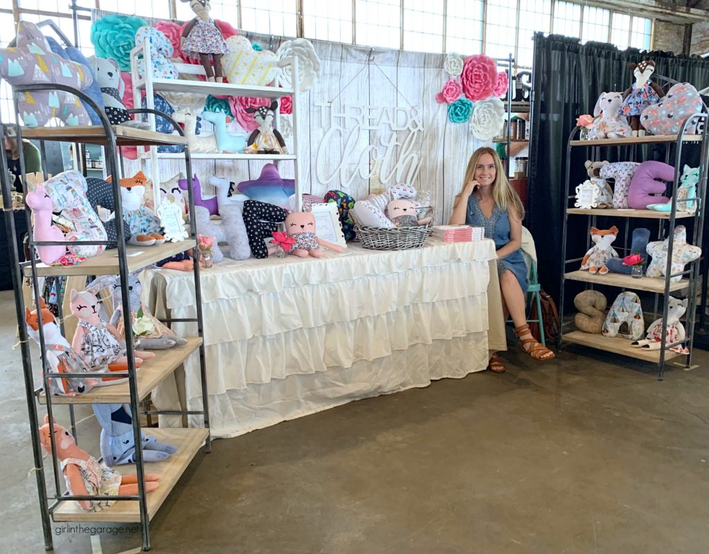 Thread and Cloth Studio market booth display ideas - Girl in the Garage