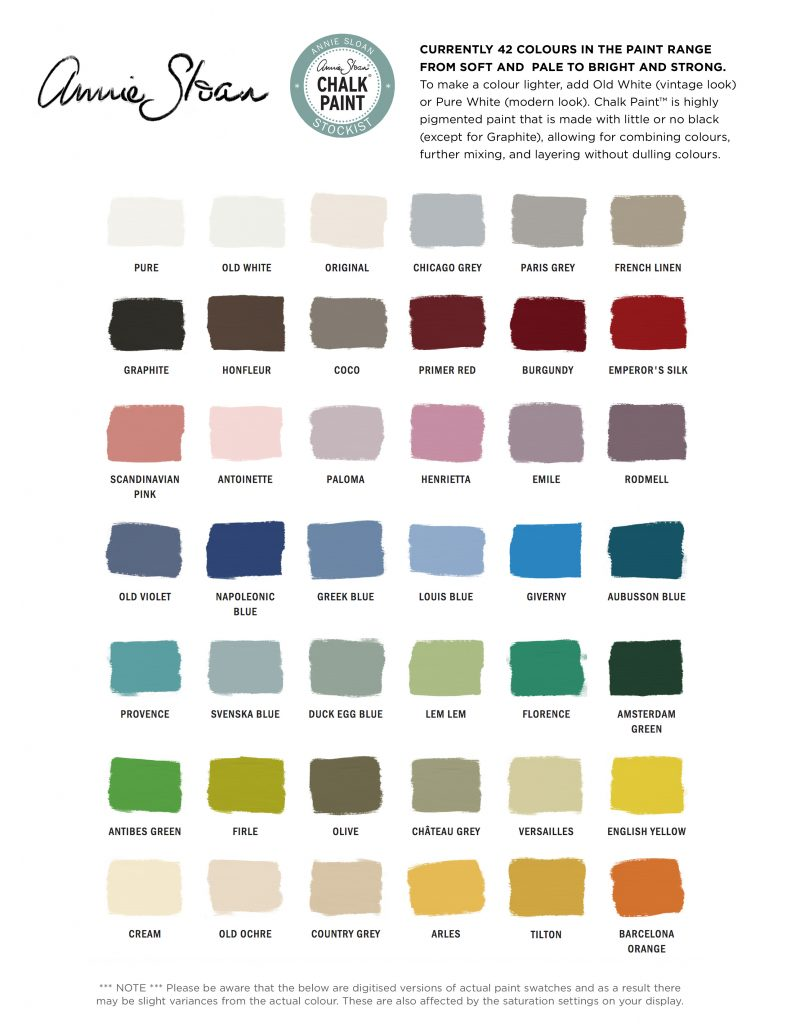 Annie Sloan Chalk Paint colors - Girl in the Garage