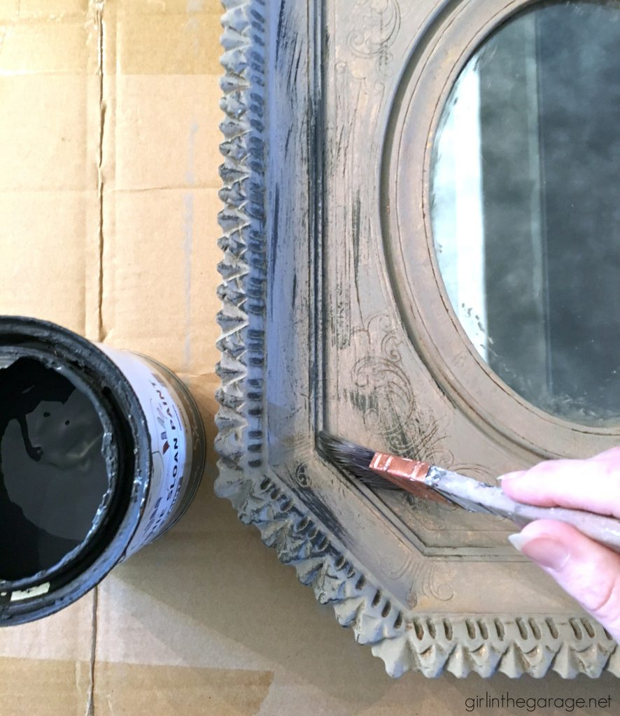 Vintage mirror makeover with Chalk Paint layers - Girl in the Garage