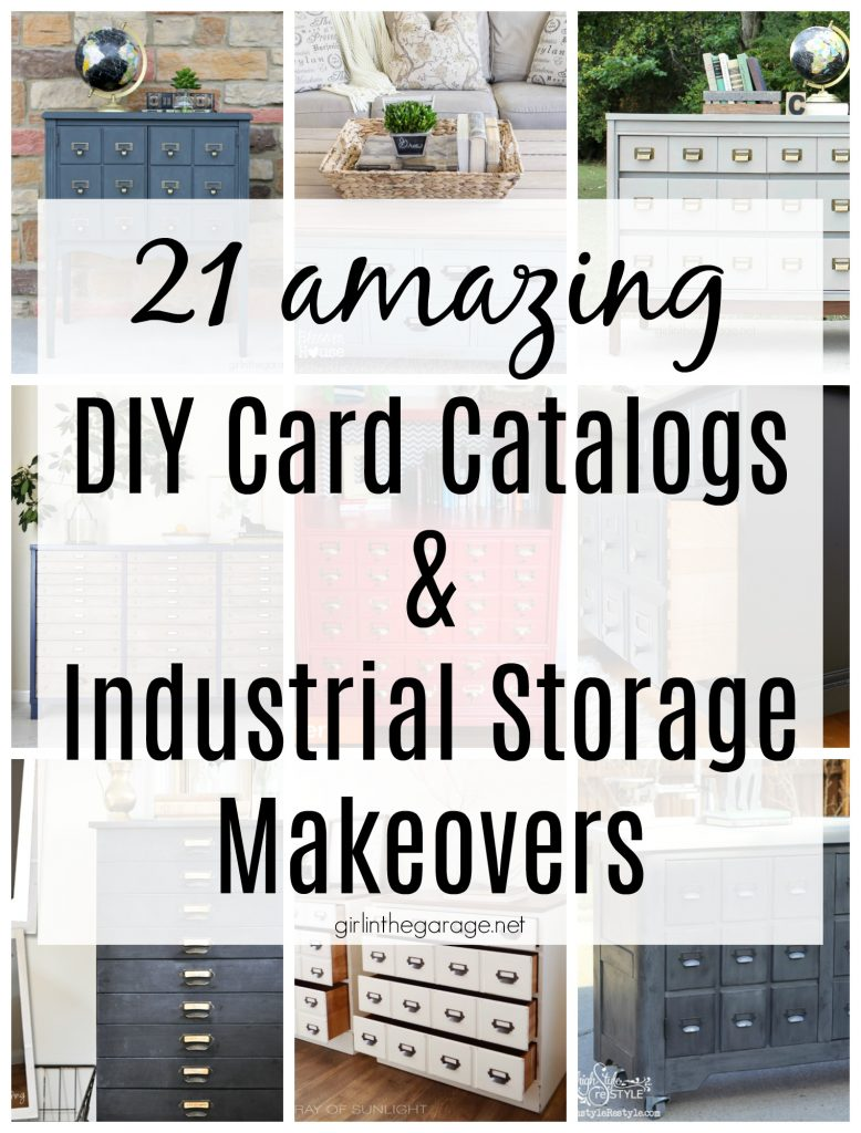 Amazing DIY card catalogs and industrial storage makeovers - Girl in the Garage