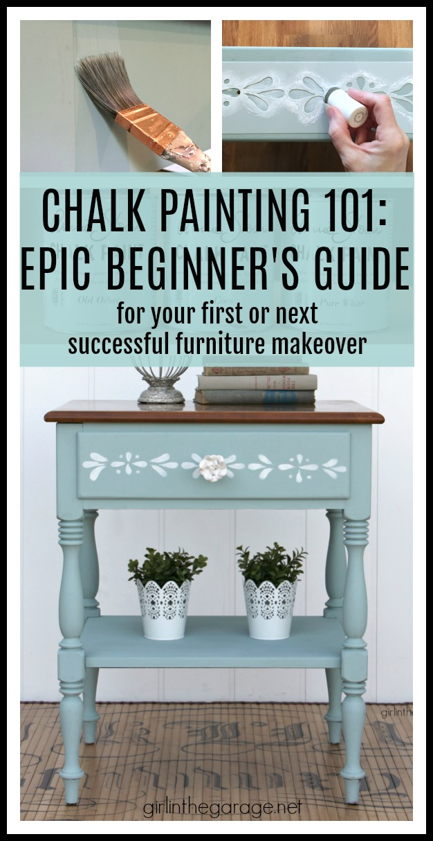 How to Chalk Paint Furniture - Beginner's Guide to Chalk Painting by Girl in the Garage