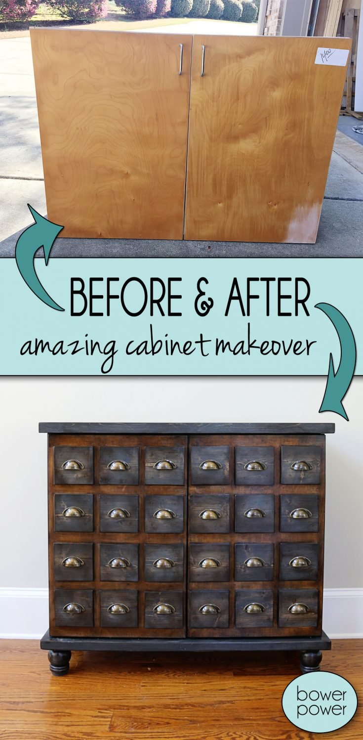 Faux Card Catalog Cabinet - Bower Power
