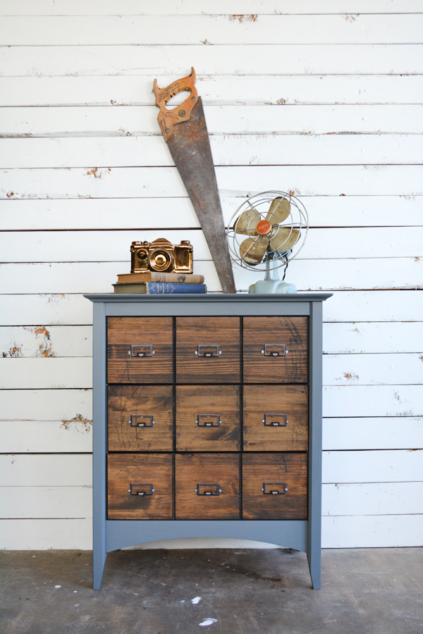Faux Card Catalog Makeover | brepurposed