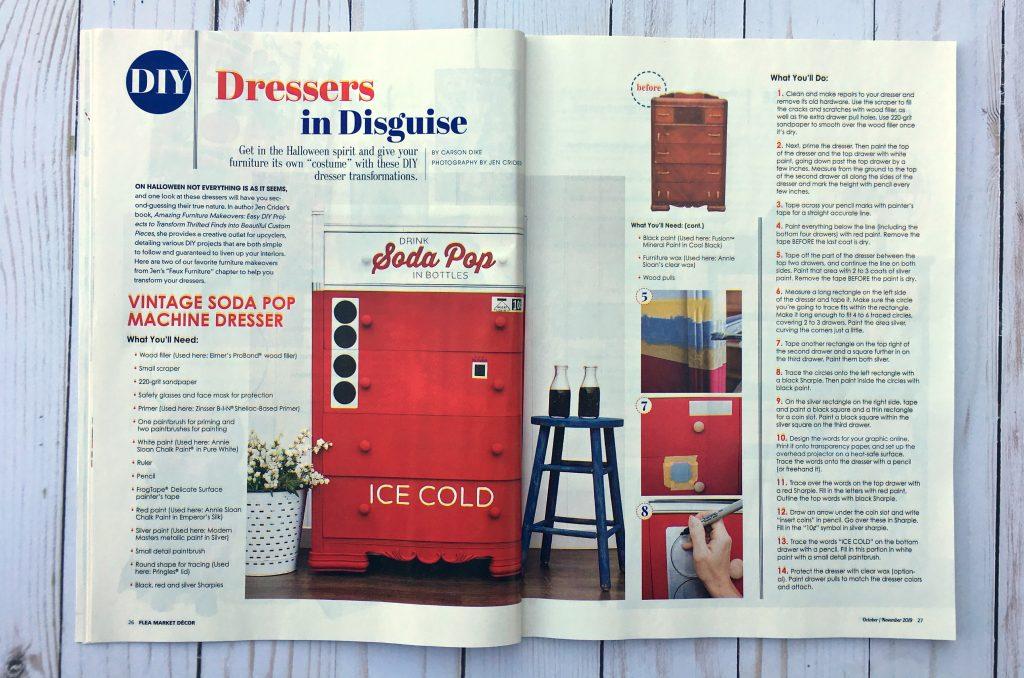 Flea Market Decor magazine feature - Girl in the Garage
