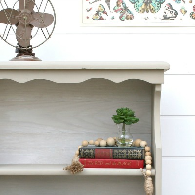 How to Whitewash Wood Planks for a Bookcase Makeover