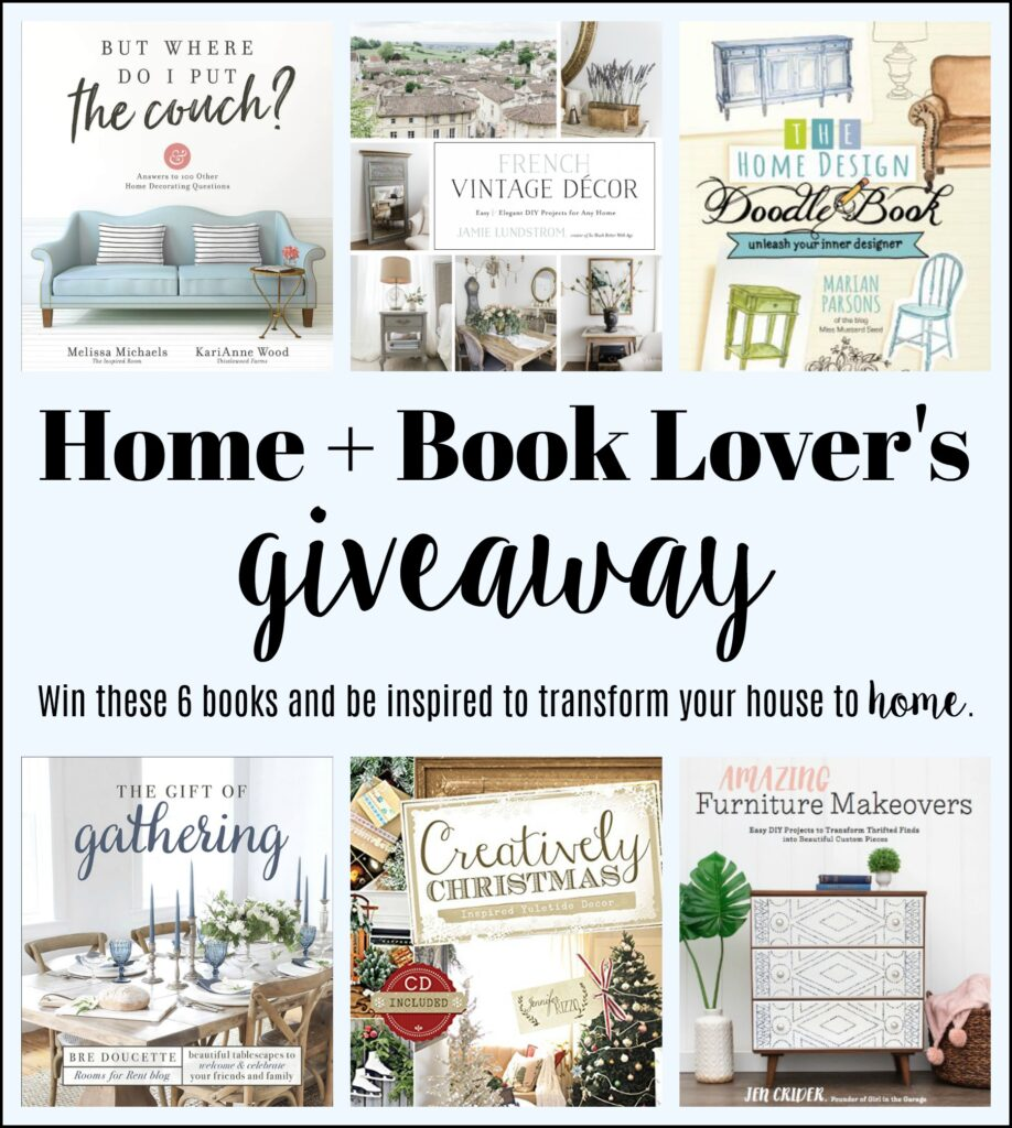Home + Book Lover's Giveaway - win 6 DIY/decorating books!