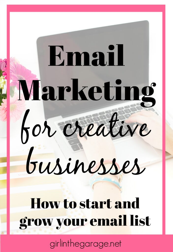 What's the secret weapon of many successful small businesses? Email marketing! Learn how to start and grow an email list for your creative business today.