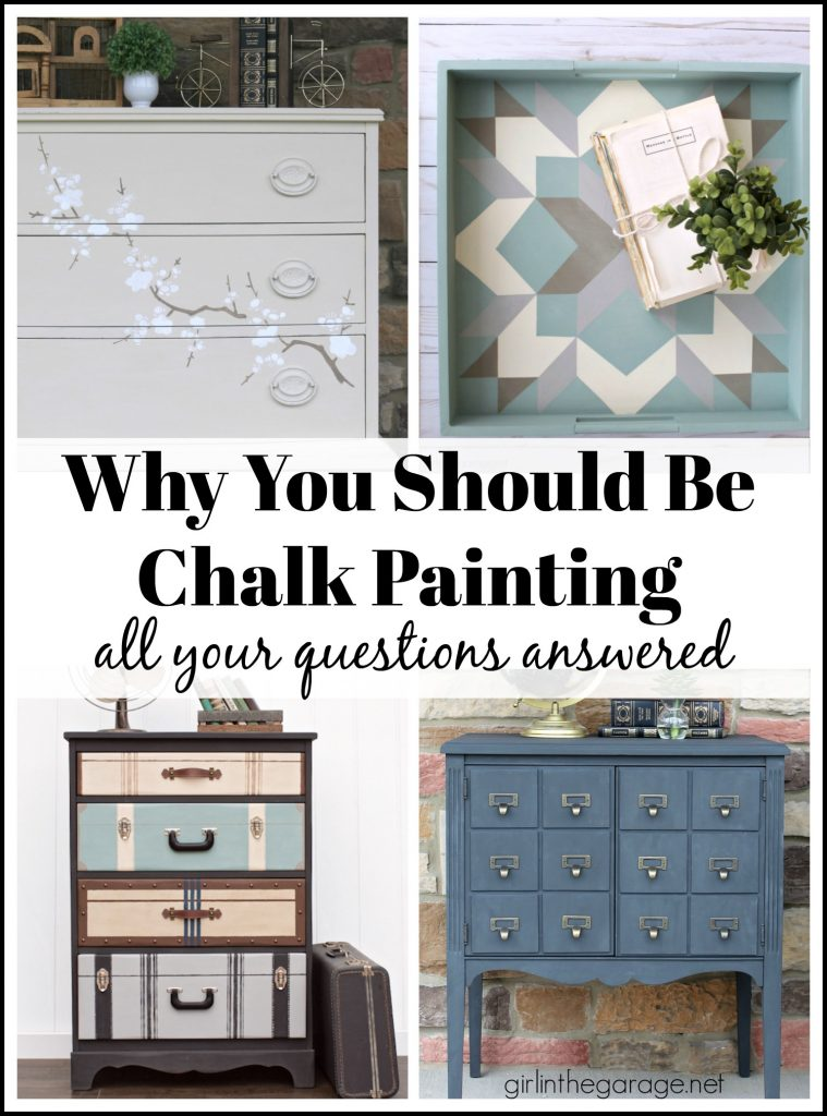 How to Chalk Paint Furniture - Simple DIY chalk painting guide for beginners - DIY furniture makeover ideas by Girl in the Garage