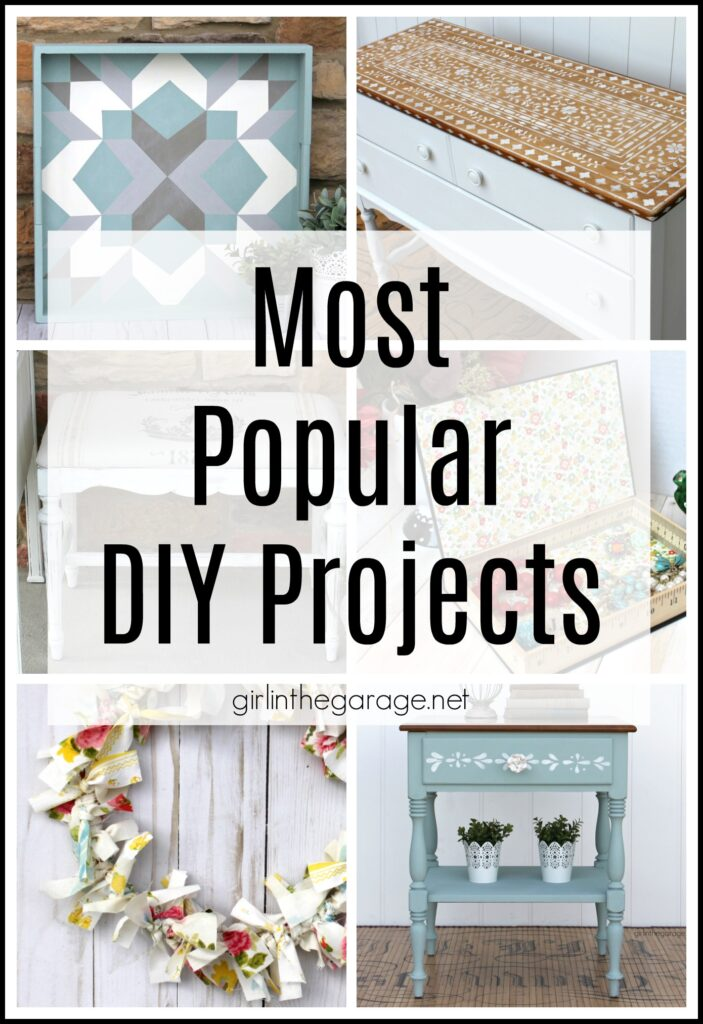 Be inspired by the most popular DIY projects from Girl in the Garage: furniture makeover tutorials, budget friendly decor ideas, and more!
