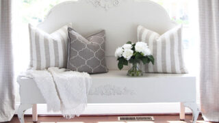 How to Turn an Antique Headboard into a Bench