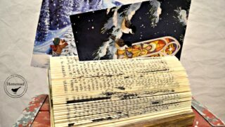 How to Make a Folded Book Christmas Card Display