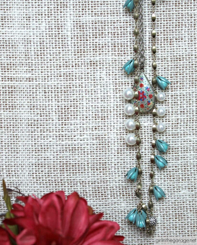 Anthropologie and vintage pendant necklaces - Girl in the Garage