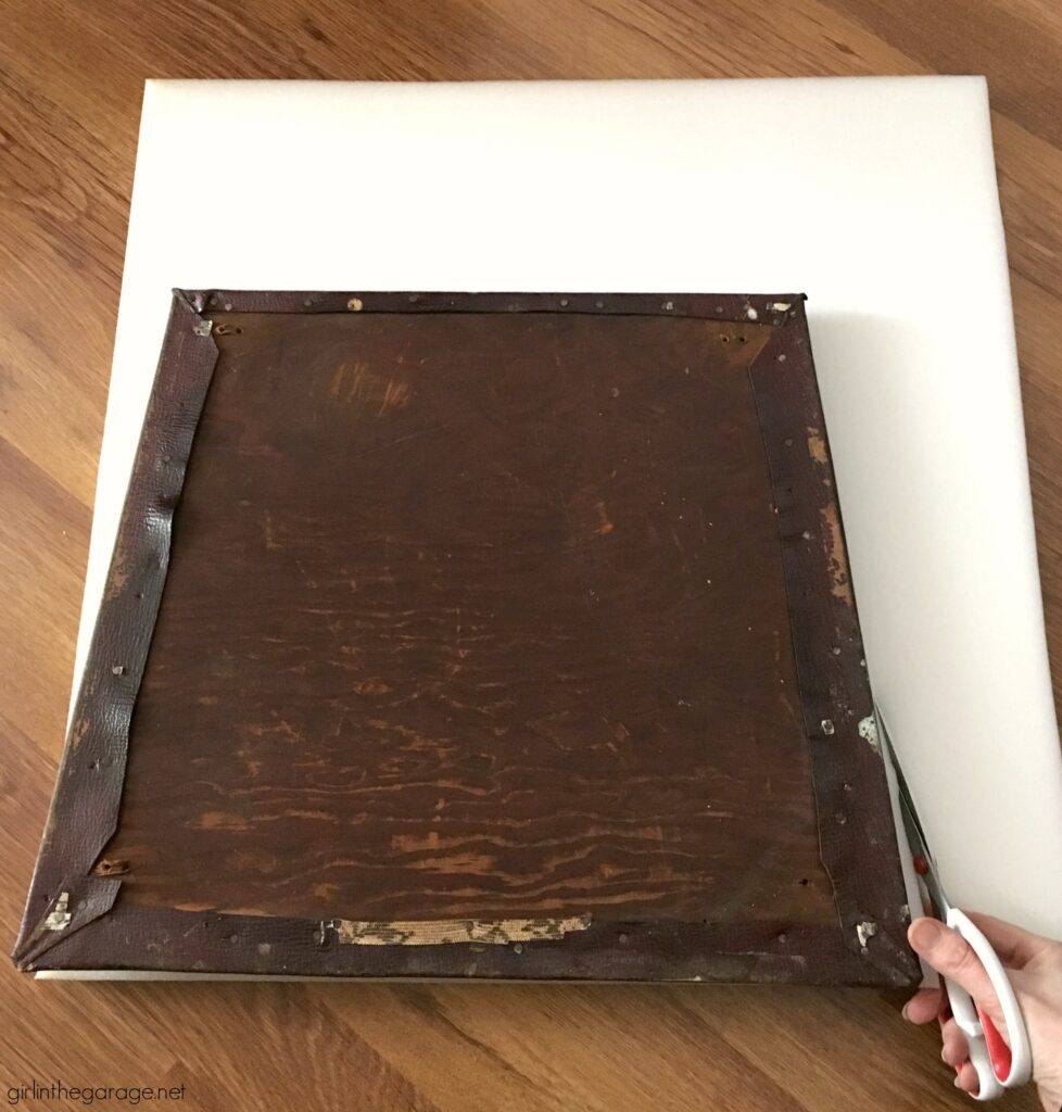 How to reupholster an antique chair seat - Girl in the Garage