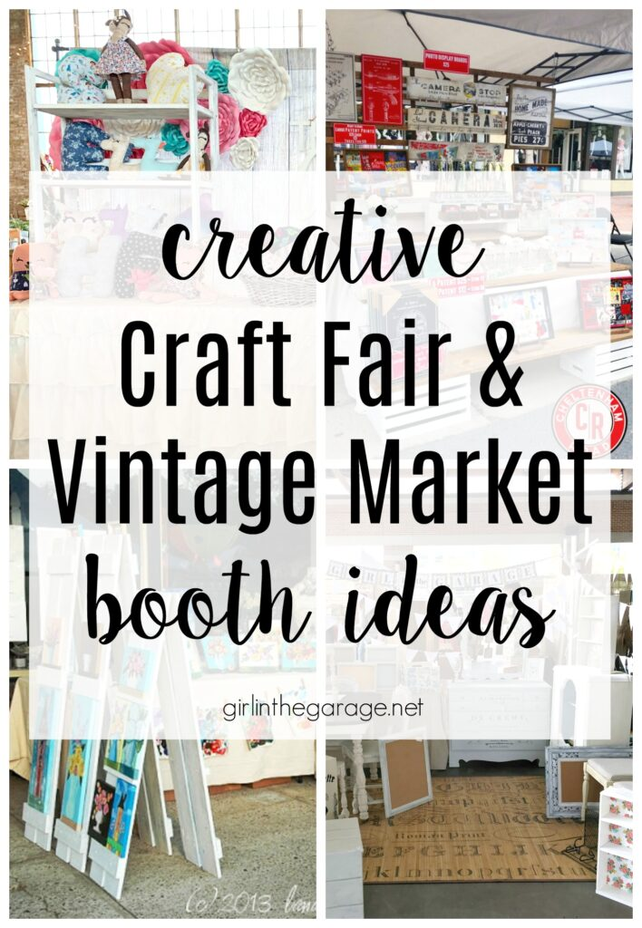 Make a memorable impression with these creative market and craft fair booth ideas! Discover lots of examples and advice by Girl in the Garage