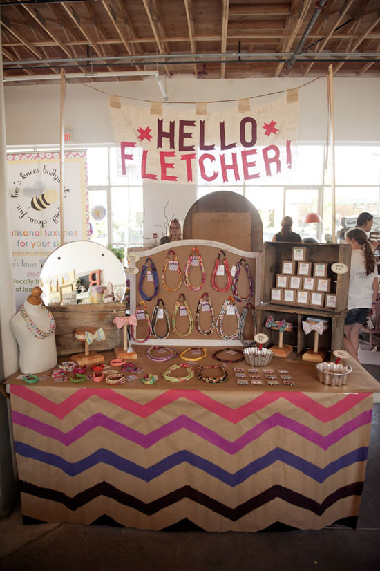 Hello Fletcher craft fair display idea