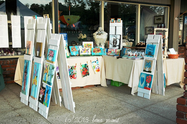 Shutter easels for art display - by Lana Manis Designs