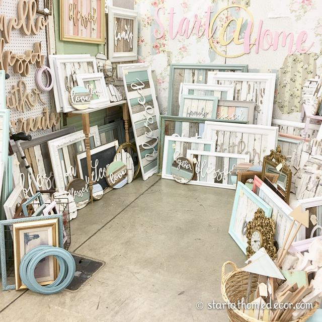 Start at Home Decor market booth