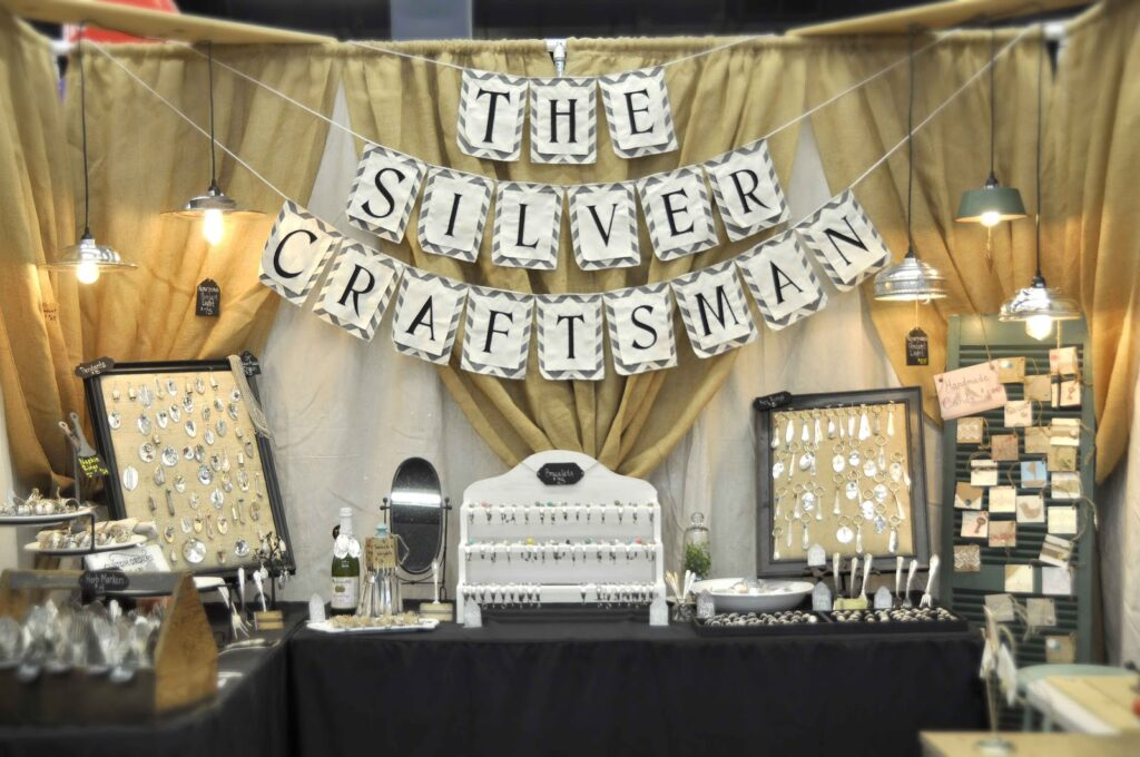 The Silver Craftsman market booth