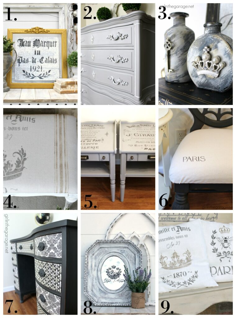 Gorgeous DIY vintage French decor ideas - Upcycled furniture and decor ideas by Girl in the Garage