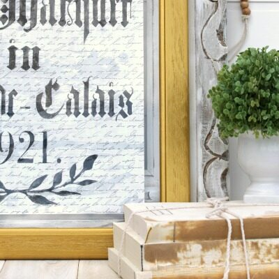 DIY Vintage French Decor Ideas
