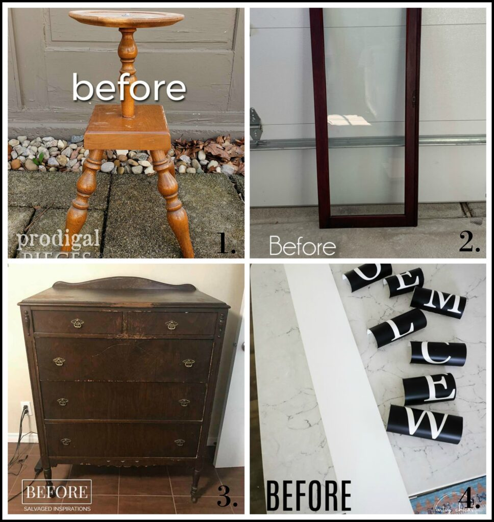 Trash to Treasure Tuesday Makeovers - April 2020