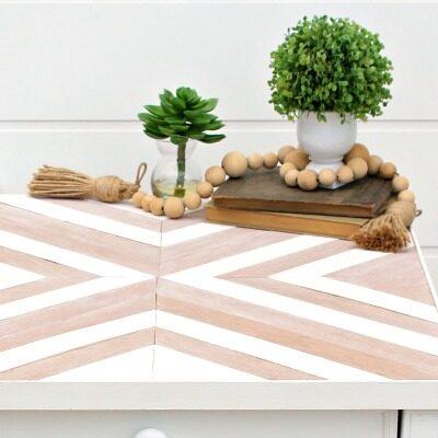 DIY Wood Mosaic Table Top
