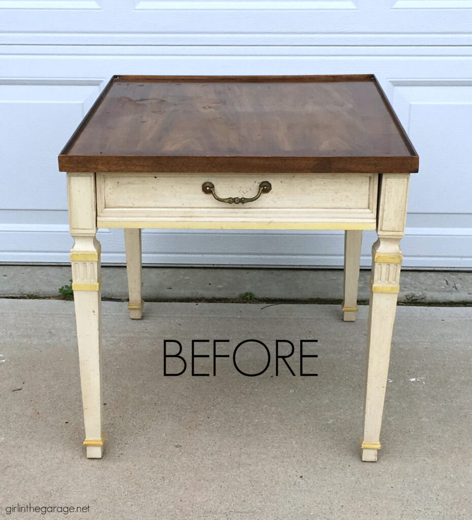 Vintage end table makeover - by Girl in the Garage