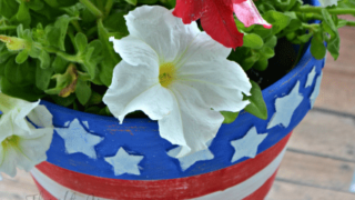 Easy DIY 4th of July Planter