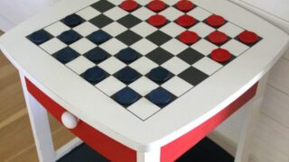 DIY Checkerboard Table (Patriotic Style)