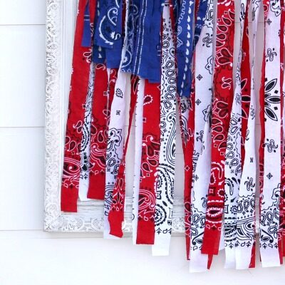 DIY Rag Flag + Patriotic Home Decor Ideas