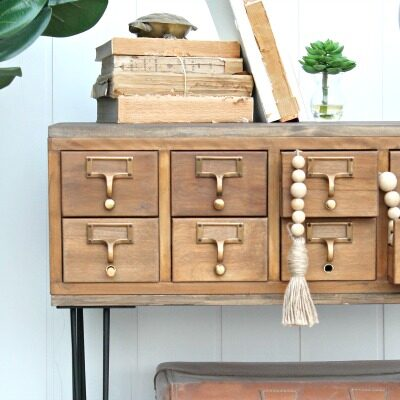How to Stain Wood: Refinished Card Catalog