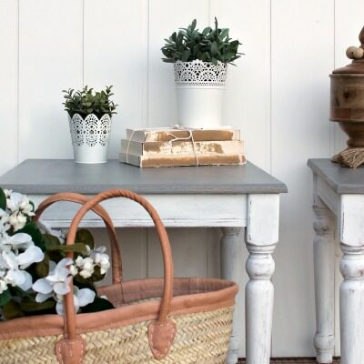 Farmhouse Stained and Painted Side Tables