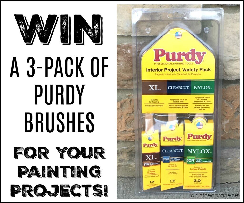 Win Purdy paint brushes - Girl in the Garage