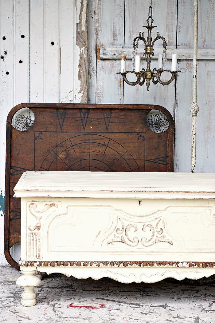 Chippy Antique Chest by Petticoat Junktion