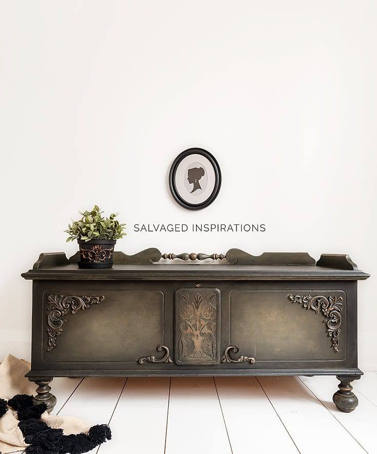 How to Use Woodubend on Painted Furniture - by Salvaged Inspirations