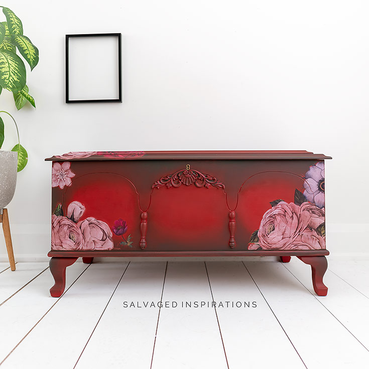 Painted Chest with Image Transfer by Salvaged Inspirations