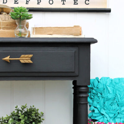 How to Paint Furniture with Black Chalk Paint