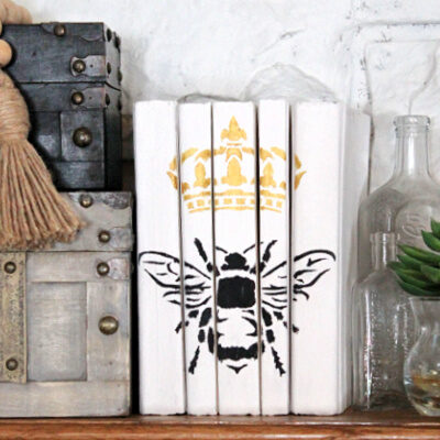 Chalk Painted Books for Easy DIY Decor