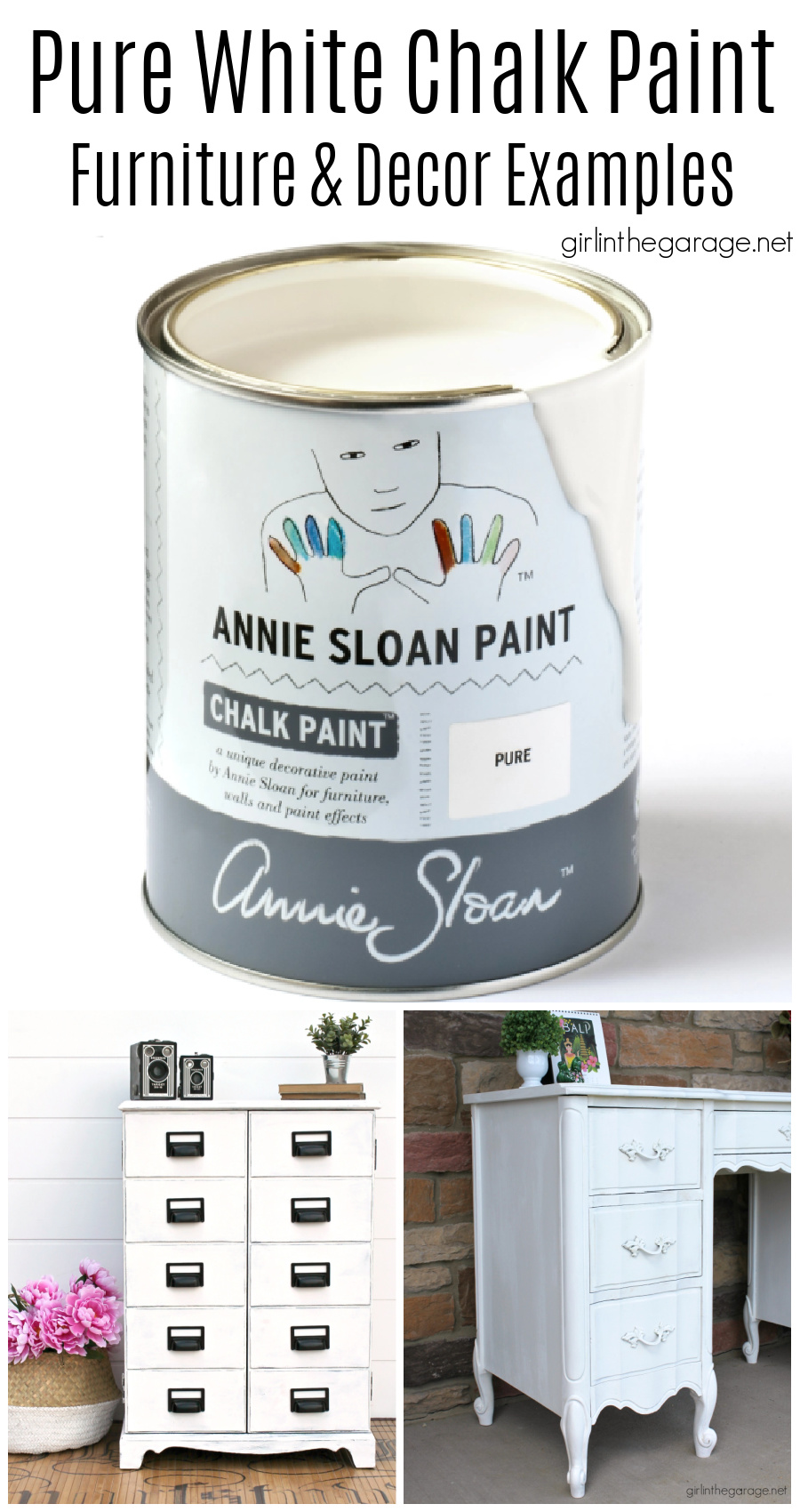 Pure White Chalk Paint Furniture Ideas Girl In The Garage